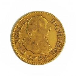 España ½ Escudos. 1783. M-(Madrid). JD. MBC-. 1,69gr. AU. Ley:0,900. (Imagen tipo). CT. 700 - KM. 415.1. Ø15mm