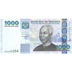 Tanzania 1000. 1. 2003. (s/f). SC. PIK. 36