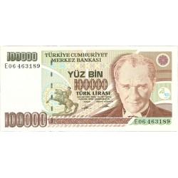 Turquia 100000. 1. 1991. (s/f). SC. PIK. 205