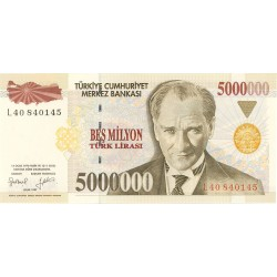 Turquia 5000000. 1. 1997. (s/f). SC. PIK. 210