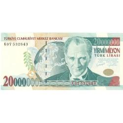Turquia 20000000. 1. 2001. (s/f). SC. PIK. 215