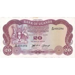 Uganda 20. 1. 1966. (s/f). SC. (Pqña.manchita margen). PIK. 3 a