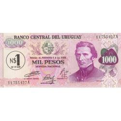 Uruguay 1000. 1. 1974. (s/f). SC. (1 Nuevos Pesos). PIK. 52