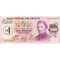 Uruguay 1000. 1. 1975. (s/f). SC. (1 Nuevos Pesos). PIK. 56
