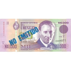 Uruguay 1000. 1. 1989. SC. (No Emitido). ESCASO/A. PIK. 67 A
