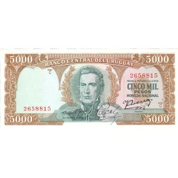 Uruguay 5000. 1. 1967. (s/f). SC. PIK. 50 b