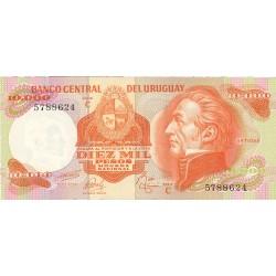 Uruguay 10000. 1. 1974. (s/f). SC. PIK. 53 c