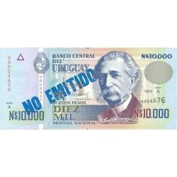 Uruguay 10000. 1. 1989. SC. (No Emitido). ESCASO/A. PIK. 68 B