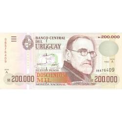 Uruguay 200000. 1. 1992. SC. MUY ESCASO/A. PIK. 72