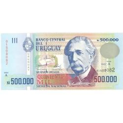 Uruguay 500000. 1. 1992. SC. RARO/A. PIK. 73