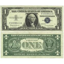 Usa 1. 1. 1957. B-(Certif.de Plata). EBC/EBC+. (G.Washington)-(X-A/B2). Lev.uso.Doblez. PIK. 419