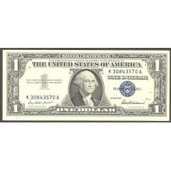 Usa 1. 1. 1957. -(Certif.de Plata). EBC/EBC+. (G.Washington)-(K-A/G1). Doblez. PIK. 419