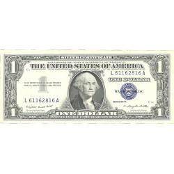 Usa 1. 1. 1957. A-(Certif.de Plata). SC/SC-. (G.Washington)-(L-A/C2). Lev.marquita. PIK. 419