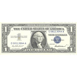 Usa 1. 1. 1957. -(Certif.de Plata). SC/SC-. (G.Washington)-(C-A/F3). PIK. 419