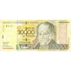 Venezuela 20000. 1. 2001. 16-08. SC. PIK. 93