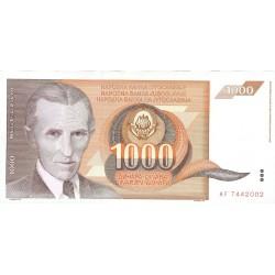 Yugoslavia 1000. 1. 1990. 26-11. SC. PIK. 107