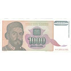 Yugoslavia 1000. 1. 1994. SC. PIK. 140 a