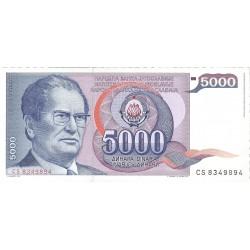 Yugoslavia 5000. 1. 1985. 01-05. SC. PIK. 93 b