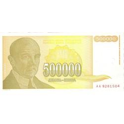 Yugoslavia 500000. 1. 1994. SC. PIK. 143 a