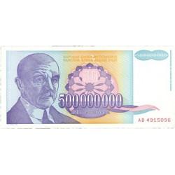 Yugoslavia 500000000. 1. 1993. SC. PIK. 134 a