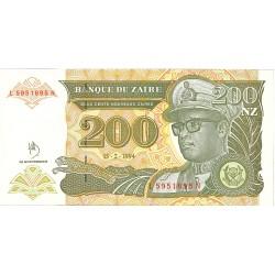 Zaire-(Ex.Congo)-(1971/97) 200. 1. 1994. 15-02. SC. PIK. 61