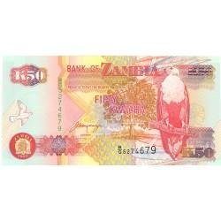 Zambia 50. 1. 1992. SC. PIK. 37 b