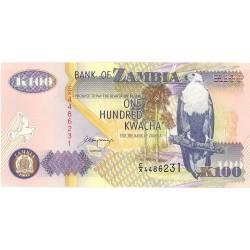 Zambia 100. 1. 1992. SC. PIK. 38 b