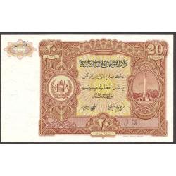 Afghanistan 20 Afgani. 1936. SC. RARO/A. PIK. 18