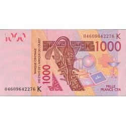 Africa.-Est.del Oeste 1000 Francos. 2004. (K). SC. (SENEGAL). PIK. 715 K.b