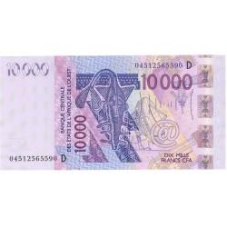 Africa.-Est.del Oeste 10000 Francos. 2004. (D). SC. (MALI). PIK. 418 D