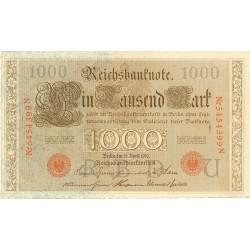 Alemania Imperio-(1871/1918) 1000 Marcos. 1910. SC-. (Sell.y nº en naranja). (Nuevo con lev.ondulación). PIK. 45 b