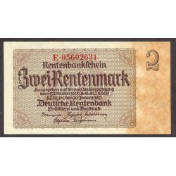 Alemania Weimar-(1919/33) 2 Rentenmark. 1937. SC. PIK. 174 b