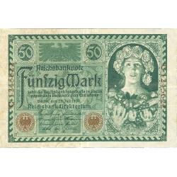 Alemania Weimar-(1919/33) 50 Marcos. 1920. 23 Julio. MBC+. (Nuevo con dobleces). PIK. 68