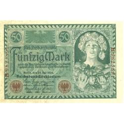 Alemania Weimar-(1919/33) 50 Marcos. 1920. 23 Julio. SC. Serie B. PIK. 68