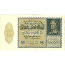 Alemania Weimar-(1919/33) 10000 Marcos. 1922. 19 Enero. MBC/MBC+. (Doblez.Marquitas). PIK. 72