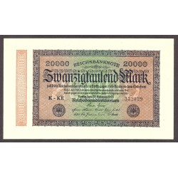 Alemania Weimar-(1919/33) 20000 Marcos. 1923. SC. PIK. 85