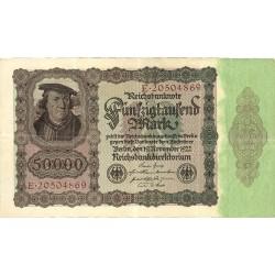 Alemania Weimar-(1919/33) 50000 Marcos. 1922. 15 Marzo. MBC. (Dobleces). PIK. 79
