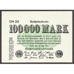 Alemania Weimar-(1919/33) 100000 Marcos. 1923. SC. PIK. 91 b