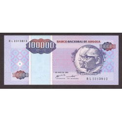 Angola 100000 Kwanzas. 1995. SC. PIK. 139