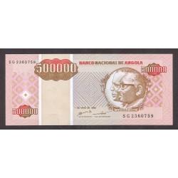 Angola 500000 Kwanzas. 1995. SC. PIK. 140