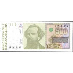 Argentina 500 Austral. 1988. (s/f). SC. PIK. 328 a