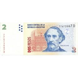 Argentina 2 Pesos. 1997. (S/F). SC. (Serie D). PIK. 352