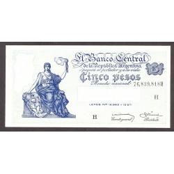 Argentina 5 Pesos. 1951. SC. (Serie H). PIK. 264 d