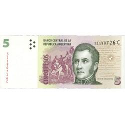 Argentina 5 Pesos. 1997. (S/F). SC. PIK. 347