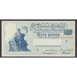 Argentina 10 Pesos. 1936. SC. (Serie D). PIK. 253 a