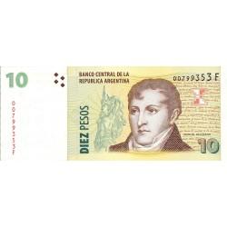 Argentina 10 Pesos. 2000. (s/f). SC. PIK. 354