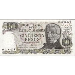 Argentina 50 Pesos. 1974. (Ley:18.188/69). SC. PIK. 296