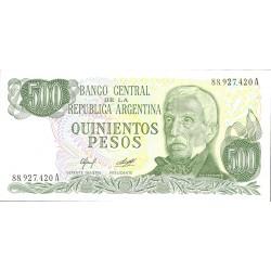 Argentina 500 Pesos. 1977. (s/f). SC. (Serie A). PIK. 303 a