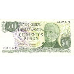 Argentina 500 Pesos. 1977. (s/f). SC. PIK. 303 c
