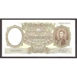 Argentina 5000 Pesos. 1962. SC. (Serie A). PIK. 280 b